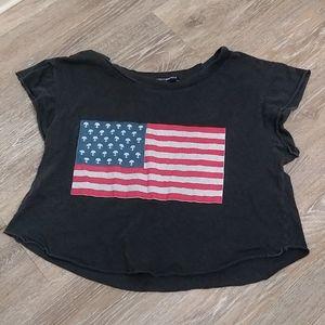 Brandy Melville alien flag t-shirt